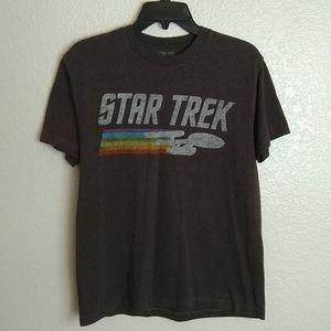 Star Trek crew neck Enterprise rainbow tee shirt